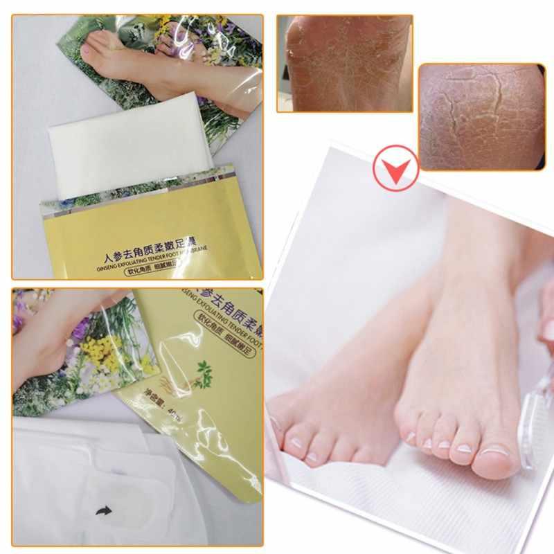 1 زوج وسادة للقدم الصحة الصينية وسادة للقدم s قشر قدم التقشير أقنعة القدم الجينسنغ استخراج الصلب الميت مزيل الجلد قدم قناع
