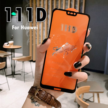 111D Full Protective Screen Glass For Huawei P20 P30 Mate 10 20 lite Honor 10 Lite 8C 8X Tempered Glass P20 lite Protector FilM 20d full cover tempered glass on for huawei p20 p30 lite pro screen protector protective film for mate 10 9 20 lite pro glass