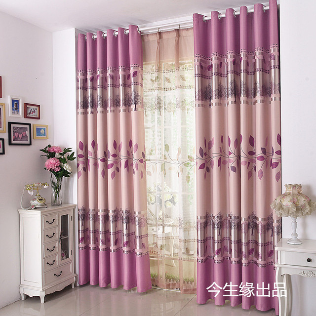 Living Room Curtains For Sale Storage Hot Purple Windowsshade Polyester High Qualiry Fabric Blackout Cortina