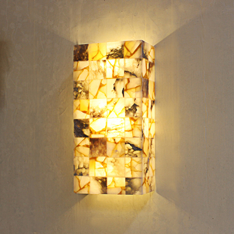 Spain marble wall lamp living room hallway hallway study bedroom bedside wall lamps bathroom marble lighting