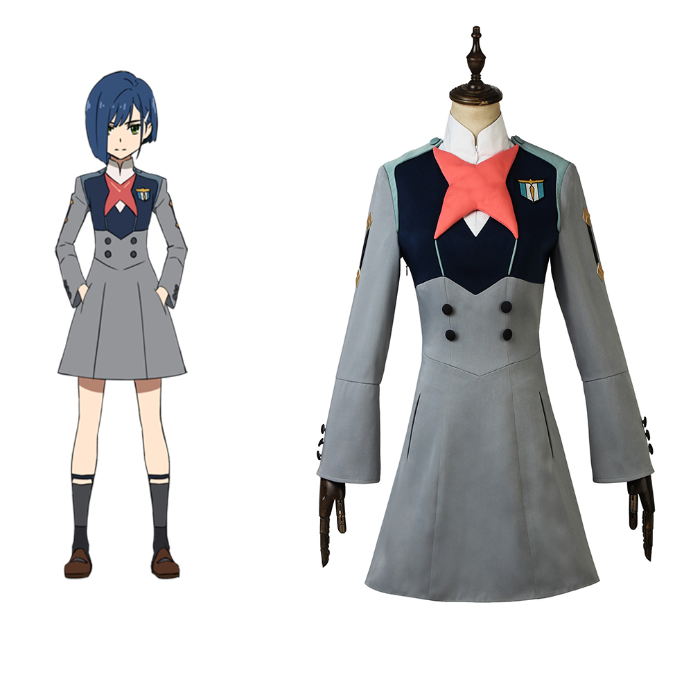 Cosplaydiy Custom Made Anime DARLING in the FRANXX ICHIGO Costume Dress Girls Women School Dress Lolita Costume L320