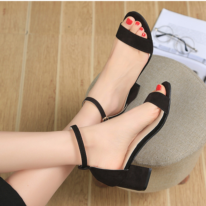 HTB1PeBaCQ9WBuNjSspeq6yz5VXa1 MCCKLE Summer Women Shoes Gladiator Buckle Strap Cover Heel Fashion Chunky Ladies Sandals For Woman Ankle Strap Footwear