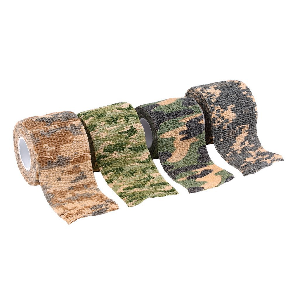 Elastic Camouflage Waterproof Outdoor Hunt Camping Stealth Camo Wrap Tape Military Airsoft Paintball Stretch Bandage