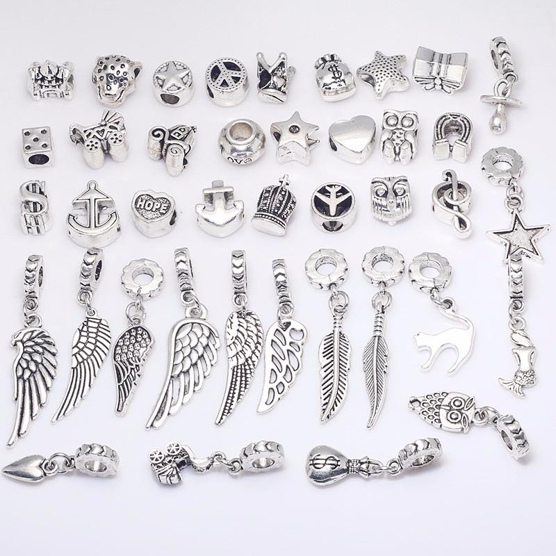 Silver Metal 40 pieces/lot 6