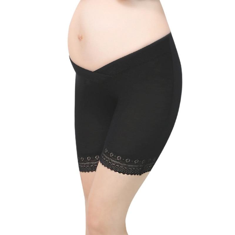 OkayMomPregnant Women Shorts For Pregnancy Women Leggings safety Pants Low-Waist Lace Maternity shorts Underwear Panties