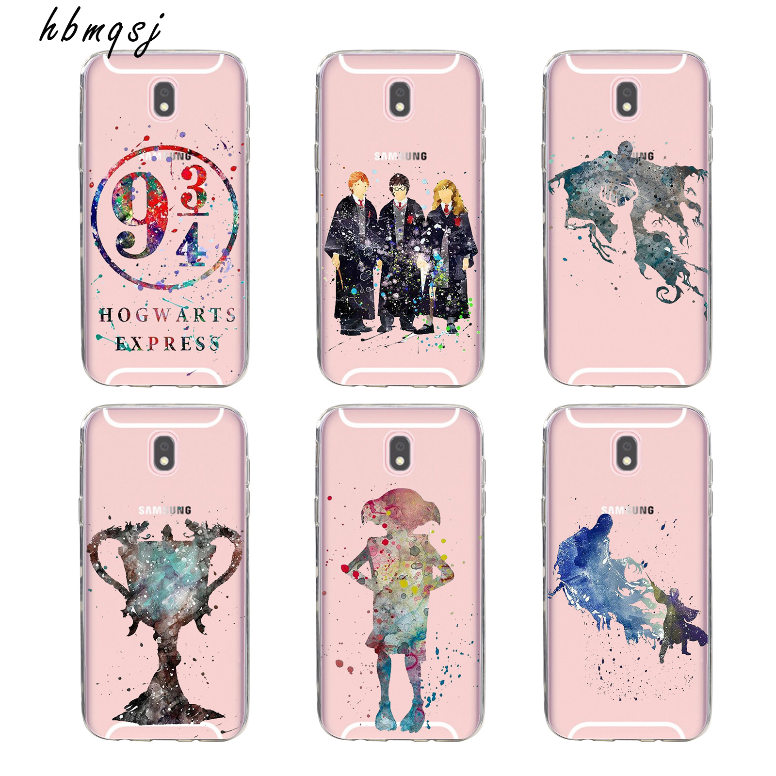 Cool for samsung galaxy j530 j5 case 2017 silicone soft tpu transparent cartoon movie art painting Harry Potter magic wand phone