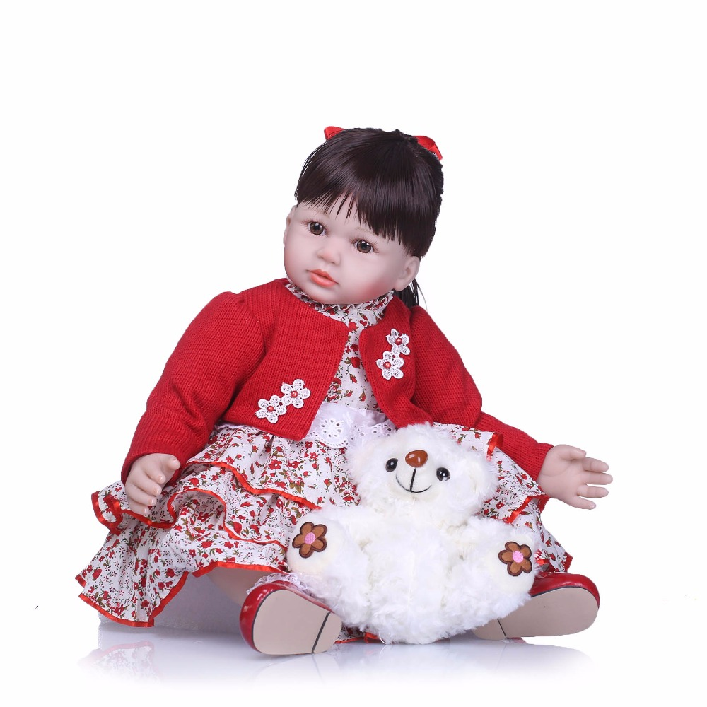 NPK 22Inch Dolls 55cm Soft Silicone Baby Reborn Dolls With Cotton Body Lifelike Doll Reborn Babies Toys for Girl цена