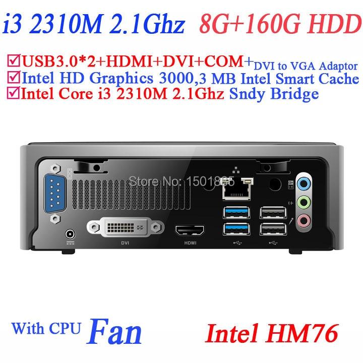 2015 cheap china computers,mini pc with Intel Core i3 2310M 2.1Ghz wifi optional VGA USB COM 8G RAM 160G HDD