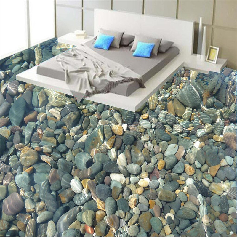 Modern painting 3D floor bathroom mural color natural pebbles non-slip waterproof thickened self-adhesive PVC Wallpaper sticker beibehang modern bathroom kitchen custom 3d floor mural wallpaper wear non slip waterproof thickened self adhesive 3d pvc floor