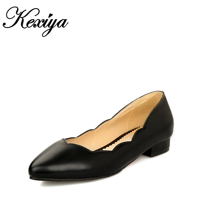 High-Heels Women Shoes Big-Size New-Fashion The Sweet Solid Leisure Shallow-Mouth HQW-277