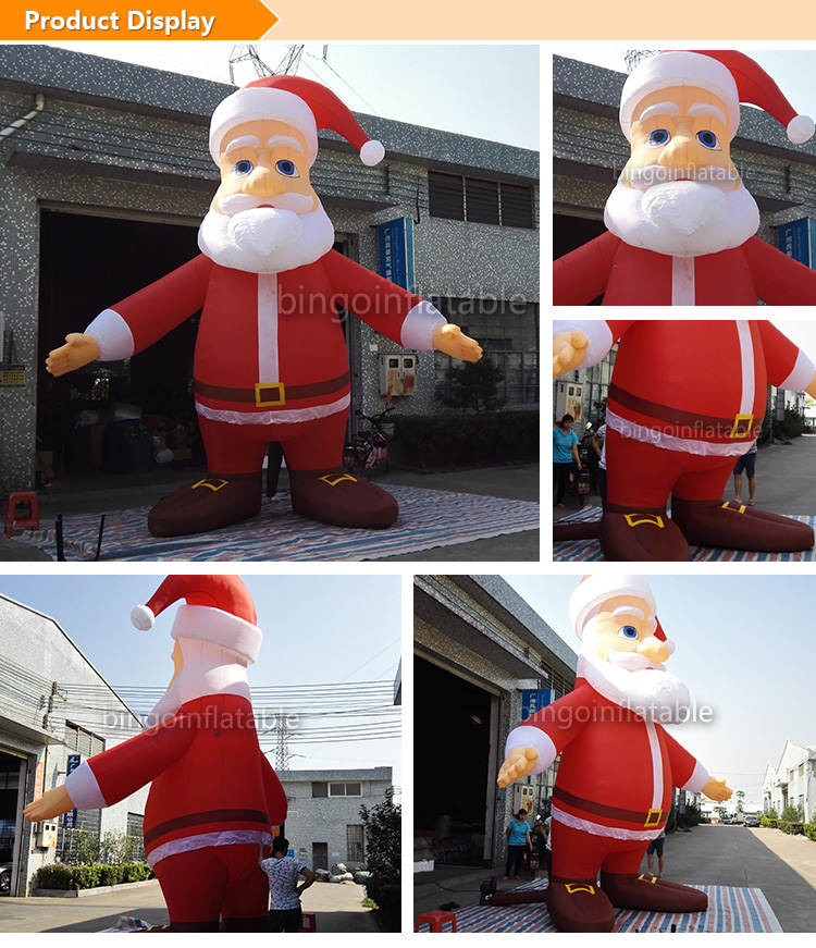 inflatable Santa Claus 16Ft. high Christmas santa cartoon figure with Open hands-16Ft.-5M high toy inflatable cartoon customized advertising giant christmas inflatable santa claus for christmas outdoor decoration