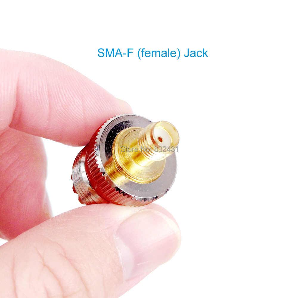 50 piezas de Radio de coche SMA hembra a UHF mujer SO239 PL259 Coaxial de RF Coaxial adaptador de conector para Walkie Talkie de coche antena de Radio