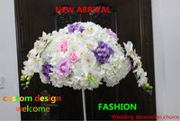 SPR New arrival wedding table centerpiece decoration flowers with butterfly orchid Road lead flower balls 50CM 2pcs/lot