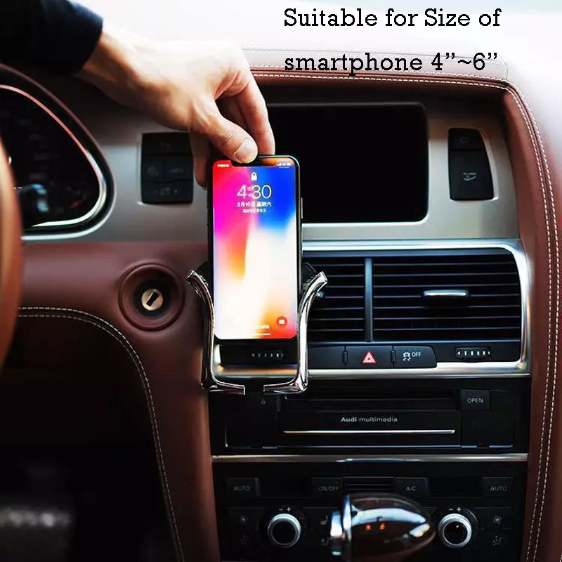 Image 4 - Air vent phone Holder Gravity phone Stand Universal for iPhone Samsung for Xiaomi redmi Huawei HTC in Car Air vent Mount Bracke-in Phone Holders & Stands from Cellphones & Telecommunications