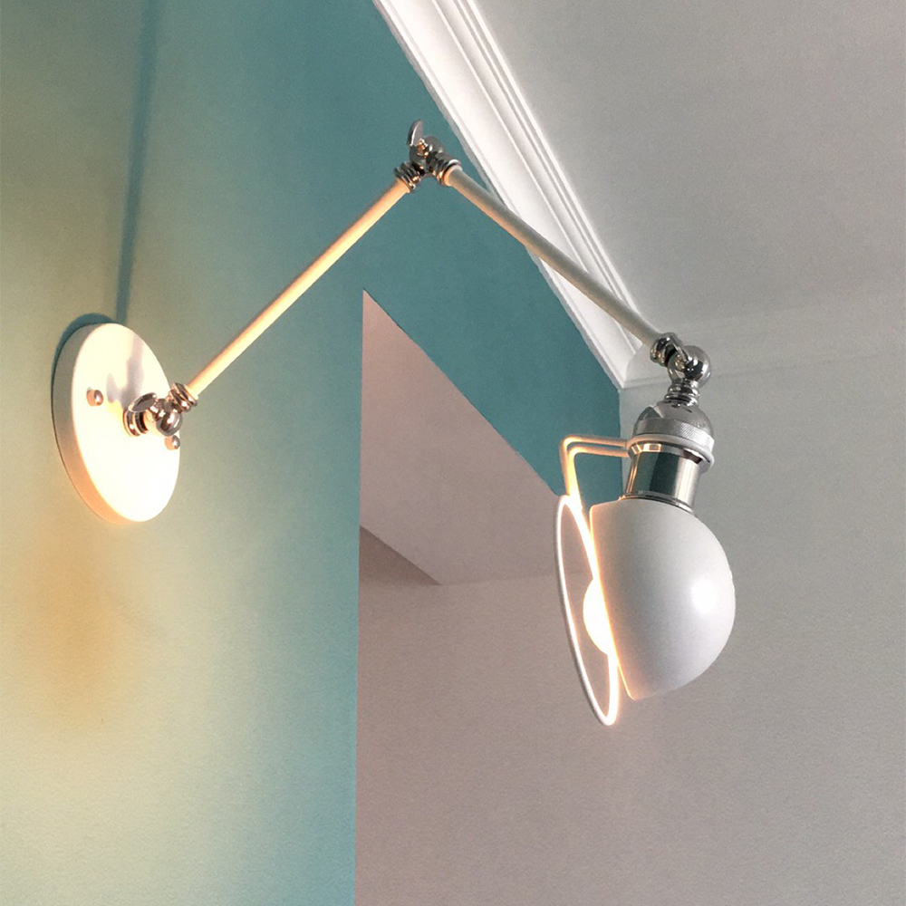 Industrielle déco Applique appliques murales lampe bras long couloir home chambre Moderne loft wandlamp luminaria de fer escalier lit lumière blanc