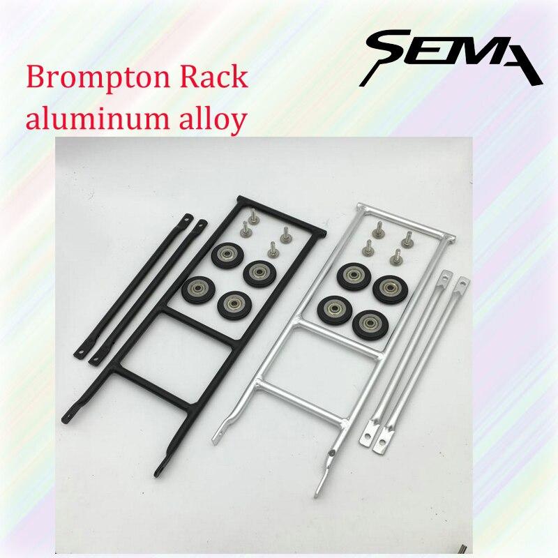Brompton Vélo Rack Vert Vélo Pliant En Alliage D'aluminium Facile Plateau De Roue Super Lumière Contient 4 Guide De Roue Accessoires