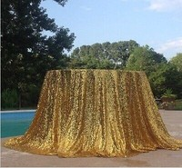10pcs120 Inch Gold Round Sequin Tablecloth for Wedding Party Cake Dessert Table Exhibition Events Decoration Table Cloth