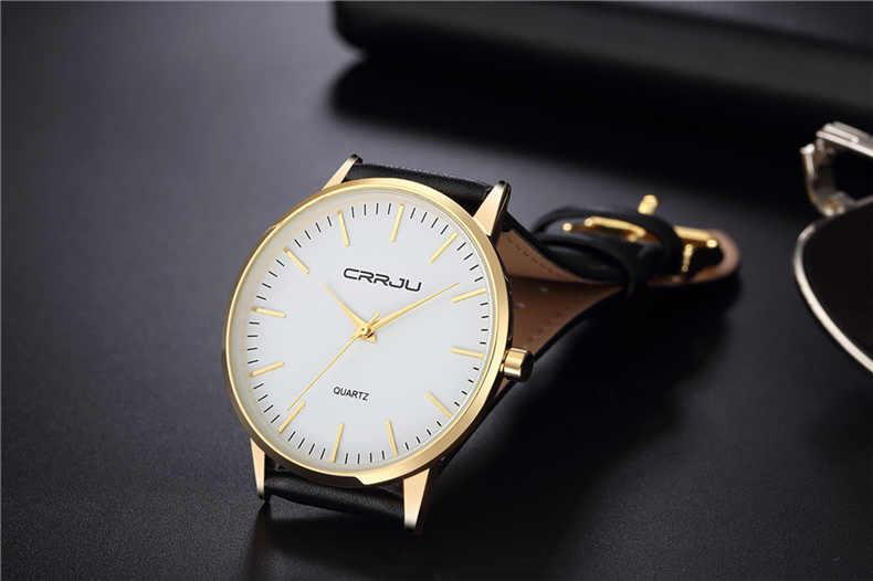 7.5mm ultra-cienki zegarek męski BriefCRRJU zegarki proste biznesmenów zegarek kwarcowy mężczyźni luksusowe męski mężczyzna zegar reloj hombre