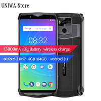 Android 8.1 6.0 Mobile Phone Wireless Charge Smartphone FHD MTK6763 Octa Core 4GB+64GB 21MP Face ID 13000mAh Ulefone Power 5s