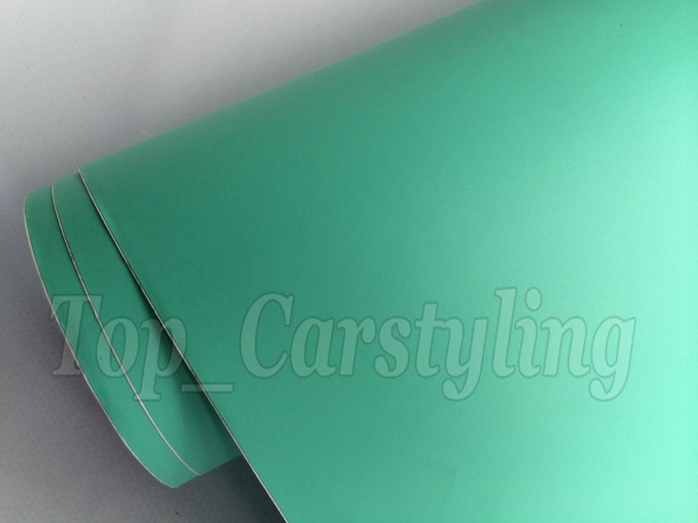 Matte tiffany blue mint green vinyl car wrapping film 3m satin white car wrap Film Foile (2)
