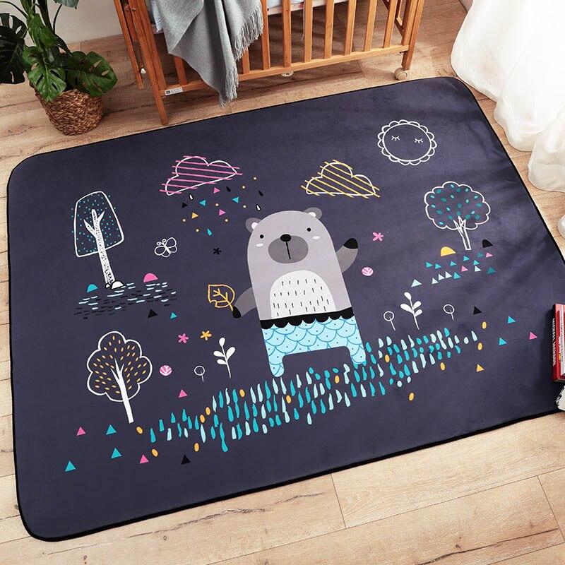 Infantile brillant bébé tapis de jeu enfants Puzzle bande dessinée tapis daim grands tapis salon tapis enfants chambre épaissir couverture