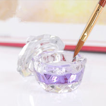 New Art Acrylic Crystal Glass Dappen Dish Lid Bowl Cup Liquid Powder Container