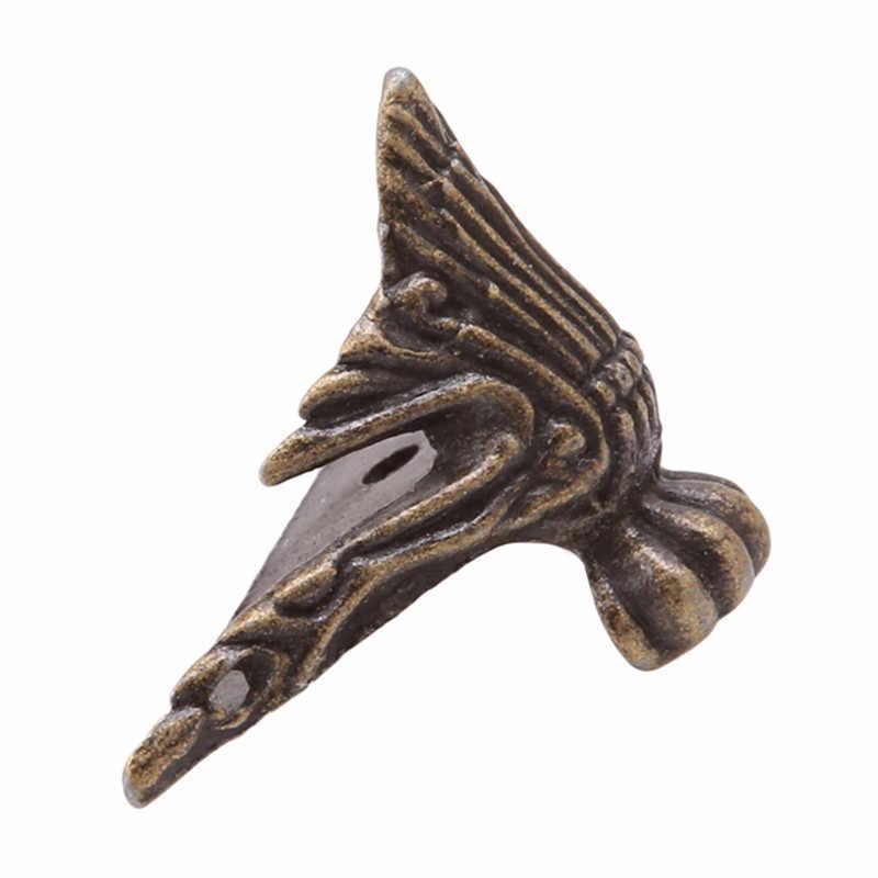 4 шт./компл. античная латунь Jewelry грудь деревянная коробка декоративные средства ухода за кожей стоп ног Угловой протектор старинное украшение MA878443
