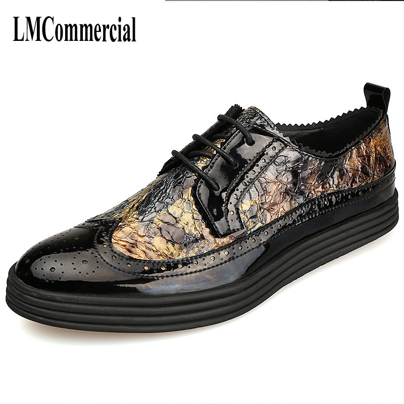The new spring and summer men Bullock carved Men's Leather shoes business casual shoes British tide handmade fashion the spring and summer men casual shoes men leather lace shoes soled breathable sneaker lightweight british black shoes men