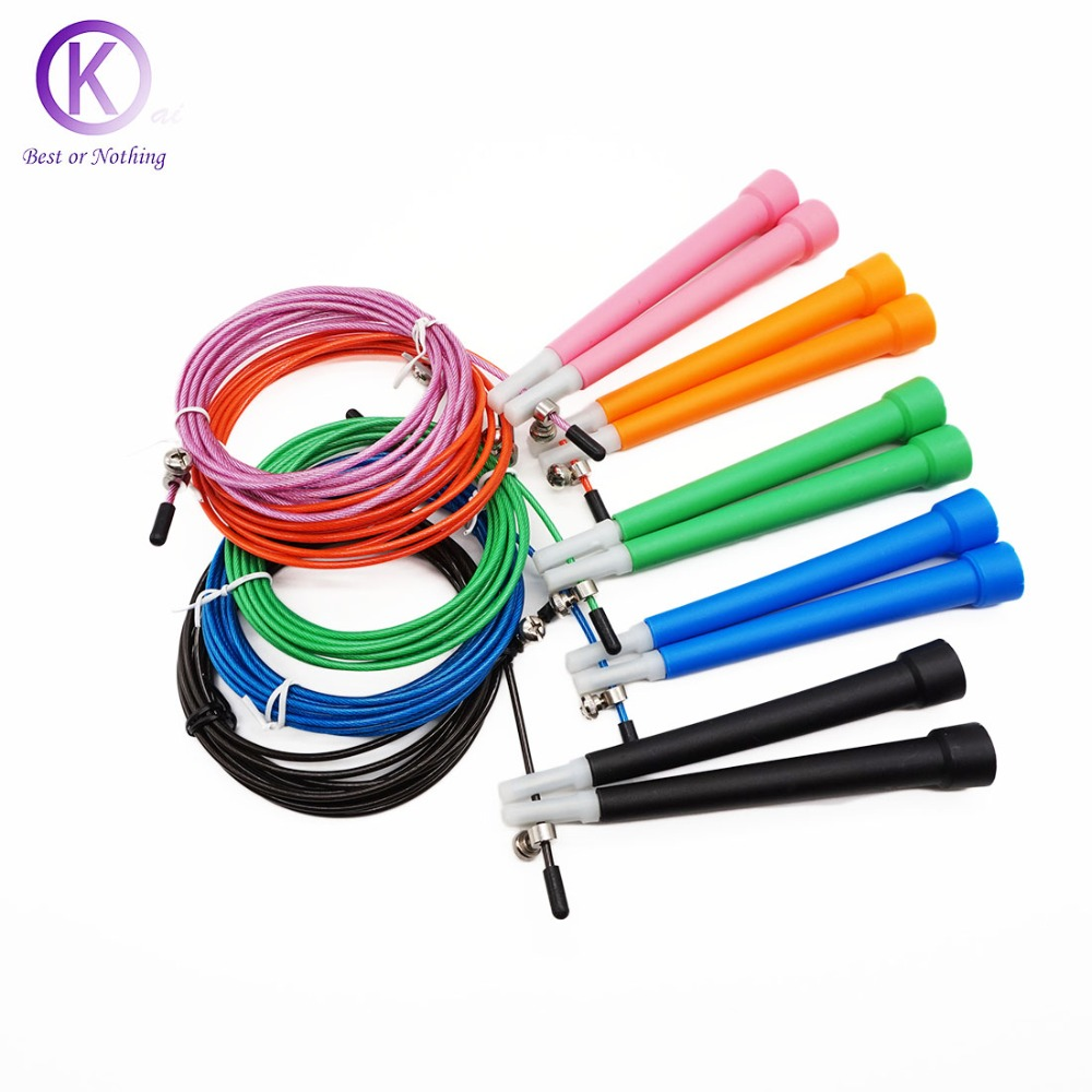 Crossfit Racing Jump Rope adjustable steel wire skipping rope crossfit equipment corda de pular gym fashion brand design skipping rope