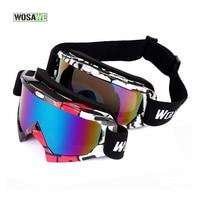 WOLFBIKE 자전거 안경 고글 스키 안경 선글라스 스노우 보드 자전거 자전거 안경 장난감 총 UV400 눈 보호 50