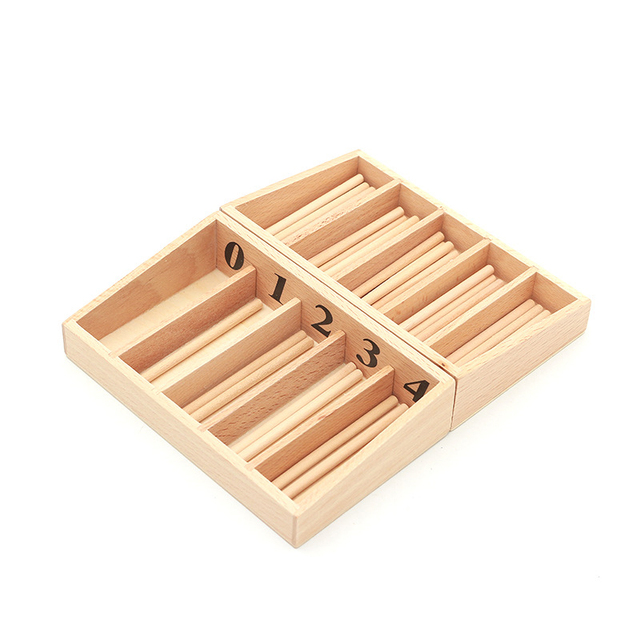 Kids Toys Family edition Spindle Box Professional Montessori education Children learn Math Material Wooden toys for Children
