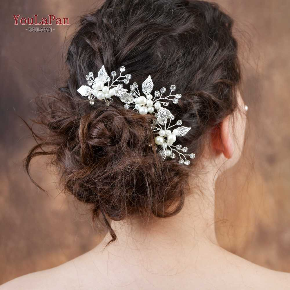 YouLaPan HP133 Bridal Clips Wedding Tiara Wedding Headwear Wedding Hair Pins Wedding Hair Accessories Bridal Tiara