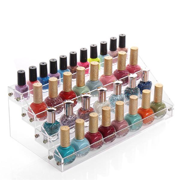Fashion 4 Tiers Cosmetic Makeup Nail Polish Varnish Display Stand ...