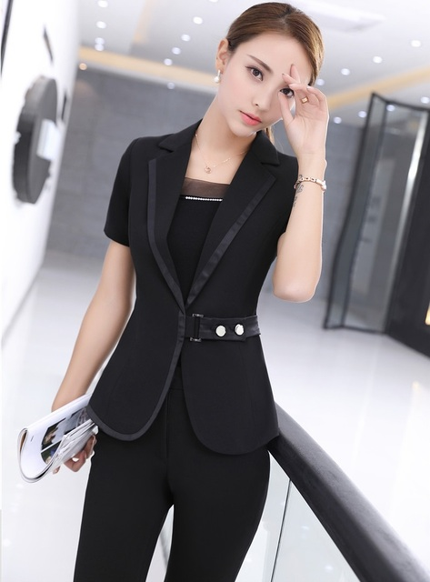 1e01a61d025 Plus Size 4XL Professional Formal Pantsuits With Jackets And Pants For  Ladies Office Work Wear Business Women Blazers Outfits