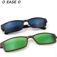 Top Quality Titanium Alloy Optical Frame With Clip On Sets Clip On Sunglasses Polarized Day And