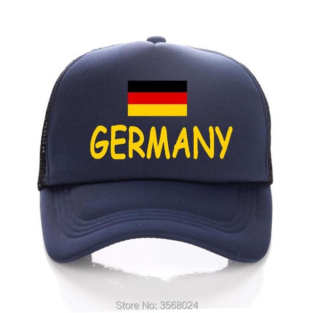 fb2449b705a 2018 football Sun Hats Kids Men Trucker Caps Football GERMANY Flag baseball  Hat Adult Snapbacks Adjustable size