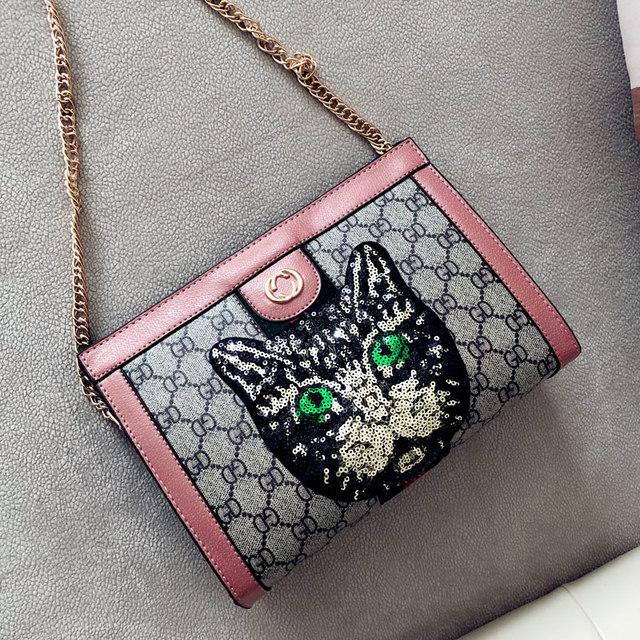 605988095 Luxury Brand Designer Women Bag Sequin Cat Handbags For Women Shoulder Bags  Crossbody Leather Ladies Handbags
