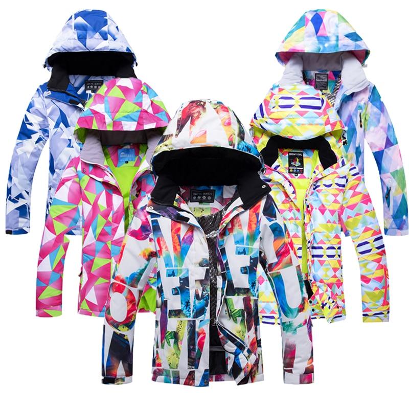 2020 новая популярная зимняя Лыжная куртка для женщин, водонепроницаемая ветрозащитная куртка для сноуборда, зимний женский теплый лыжный ко...