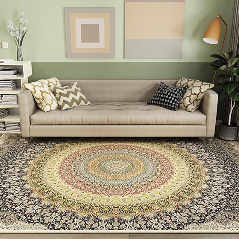 American Retro Style Persian Carpets Area Rug For Bedroom Living Room Kitchen Baths Mat Door Floor Anti-Slip Home Carpet