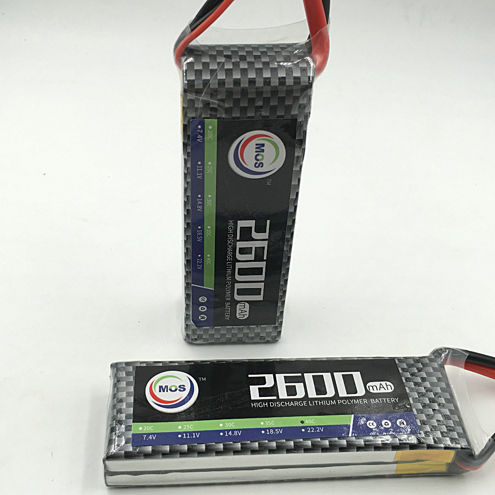 MOS 2S lipo battery 7 4v 2600mAh 25C For font b rc b font helicopter font