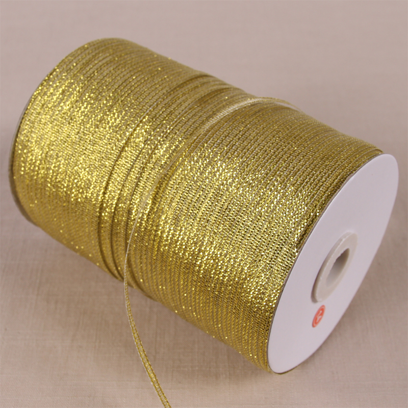 10 Meters/Lots 3mm Gold Silver Glitter Metallic Ribbons Wedding Birthday DIY Cake Decoration Christmas Halloween Gift Wrapping