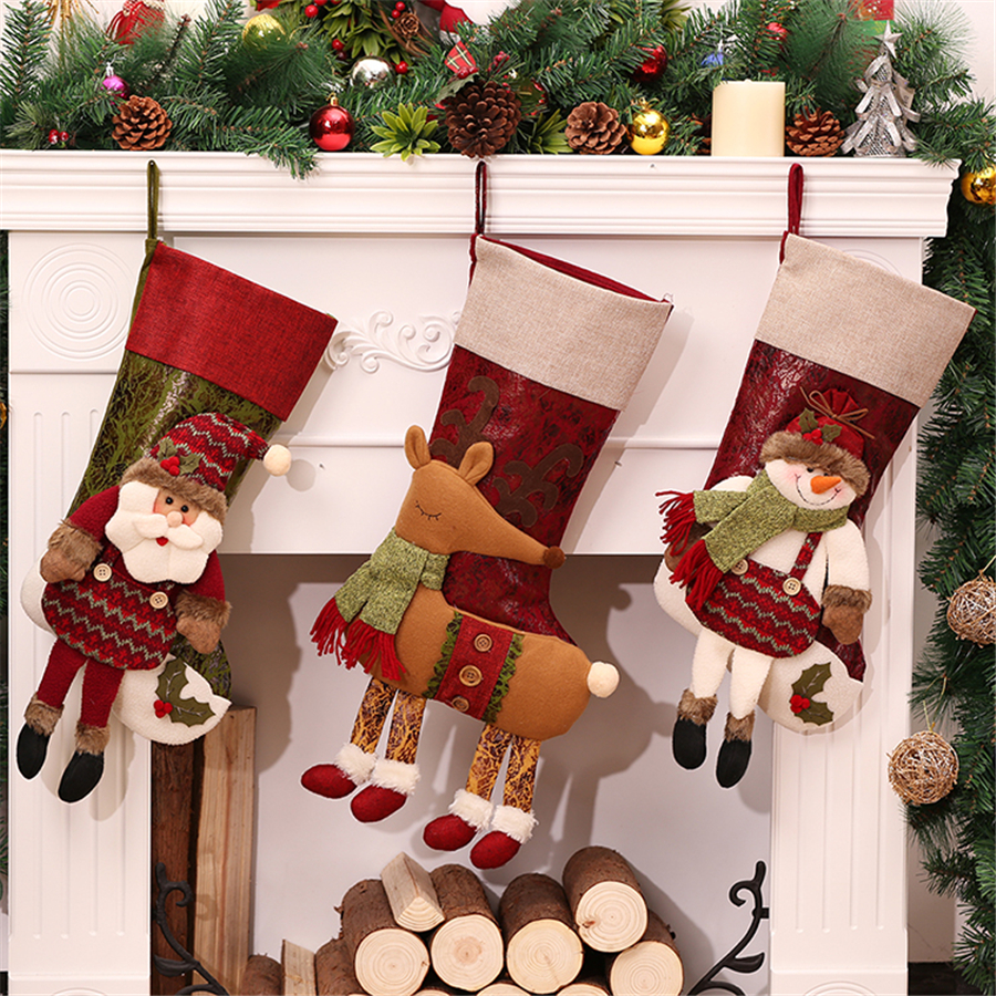 Online get cheap personalized christmas stockings for Special xmas decorations