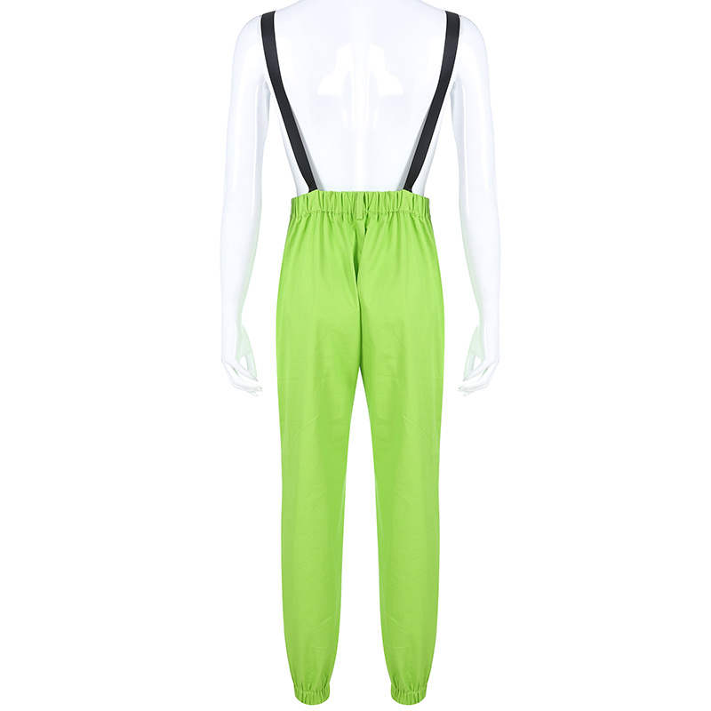 NCLAGEN Stylish jumpsuit Pockets Overalls Chains Buckles Women Suspenders Trousers Loose Streetwear Capris Female Casual Pants 45
