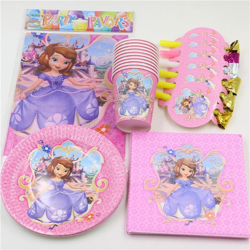 sofia princess kids favores baby shower fiesta de cumpleaos mantel platos platos de papel tazas decoracin