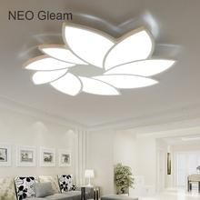 NEO gleam современный светодиодный потолочный Люстра свет ультра-тонкий белый plafon Потолочная люстра лампа приспособление для Гостиная Спальня