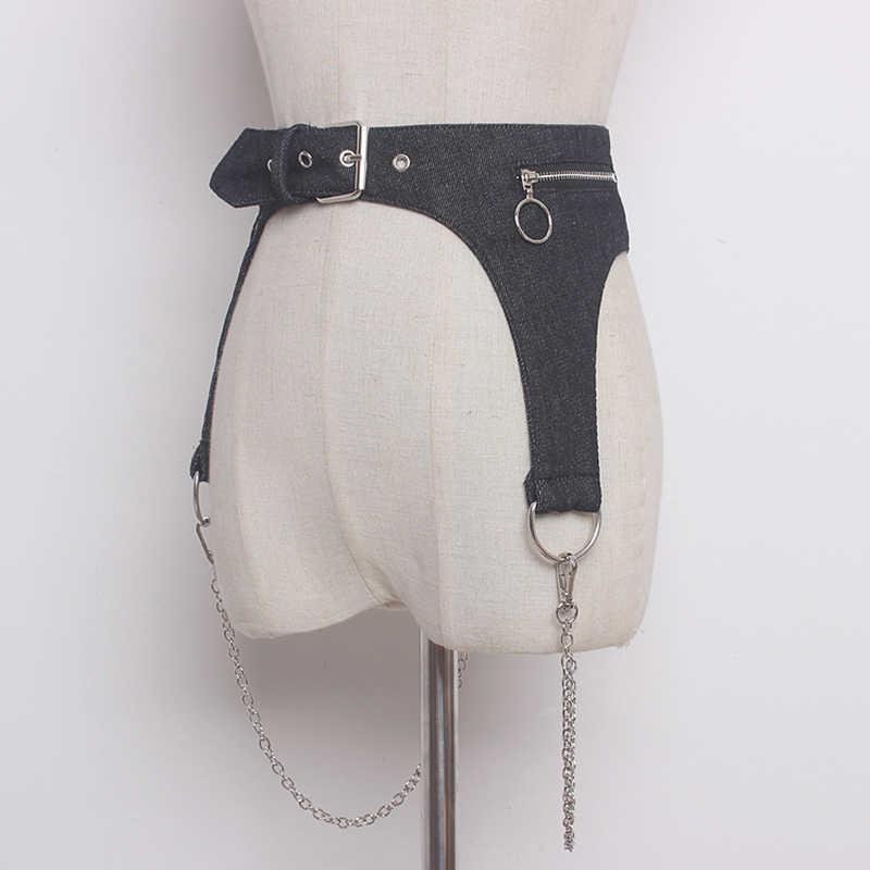 HATCYGGO Kadın Kot bel kemeri Korse Kadın Kuşağı Metal Zinciri Ayrılabilir Kovboy Kemer Elbise için Geniş Bel Bandı