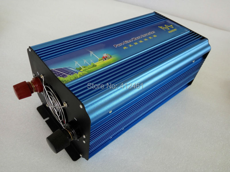 4000W 12V/24VDC 110V/220VAC Pure Sine Wave Inverter Off Grid Solar  Wind Power Inverter, Surge Power 8000W PV Inverter4000W 12V/24VDC 110V/220VAC Pure Sine Wave Inverter Off Grid Solar  Wind Power Inverter, Surge Power 8000W PV Inverter