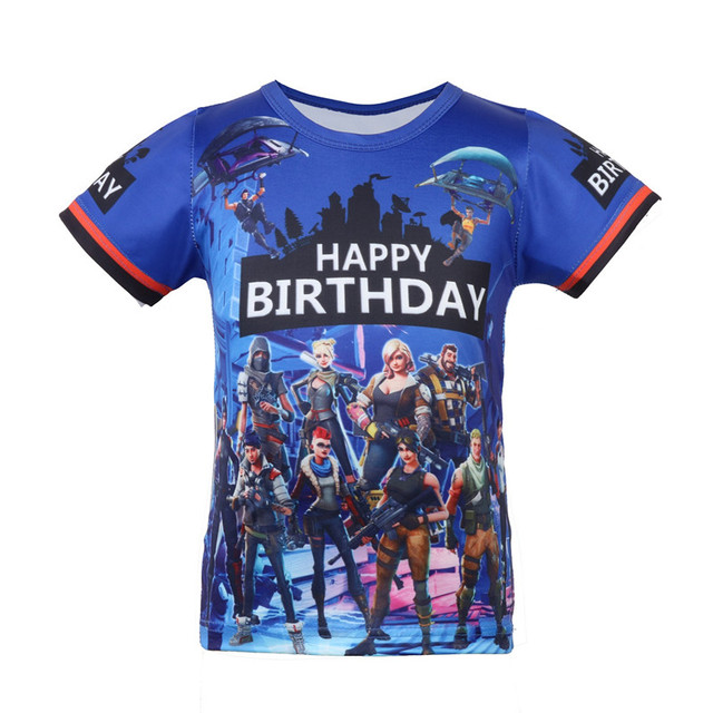 2018 Summer short T Shirts catoon Battle Royale Legend Gaming Pattern Tops Baby Girls Boys T-shirt Kids comfortable Clothes