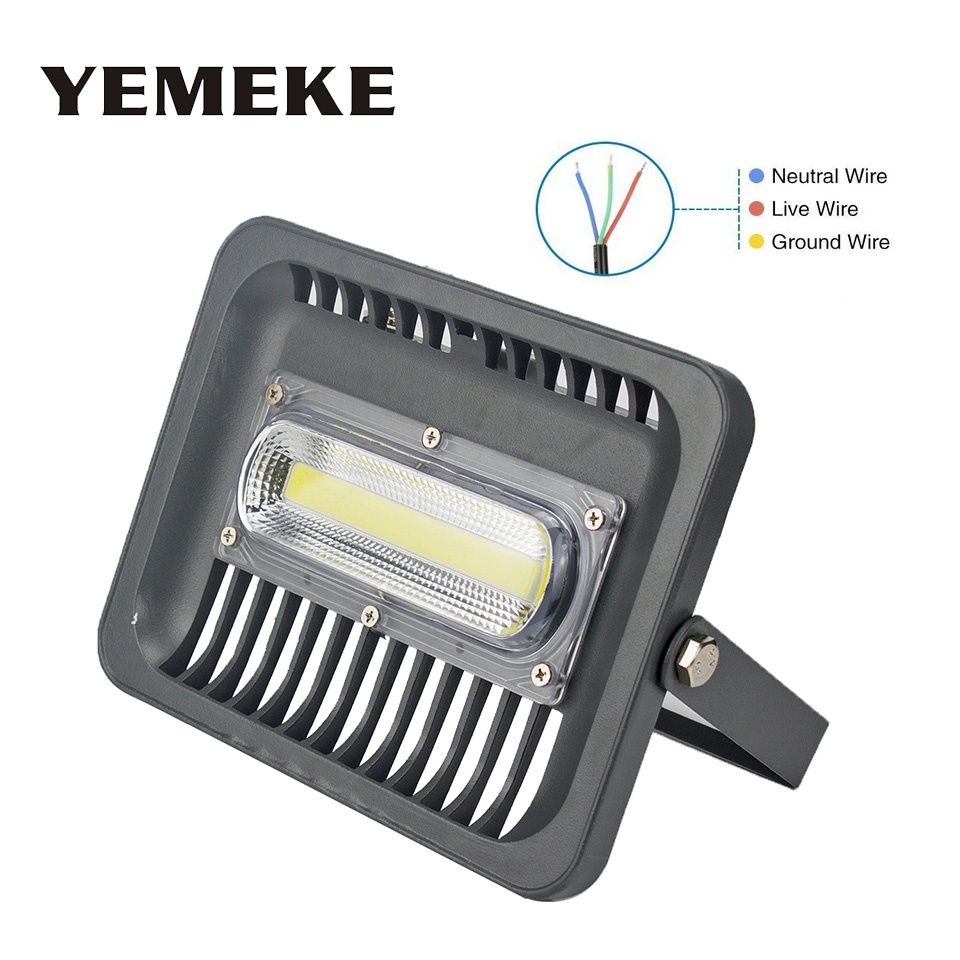 Outdoor Lighting 50w 100w Led Floodlight Smd3030 Led Cob Chip Outdoor Lighting Ac 110v 220v Spotlight For Square Garden Garage Wall Lamp Highway