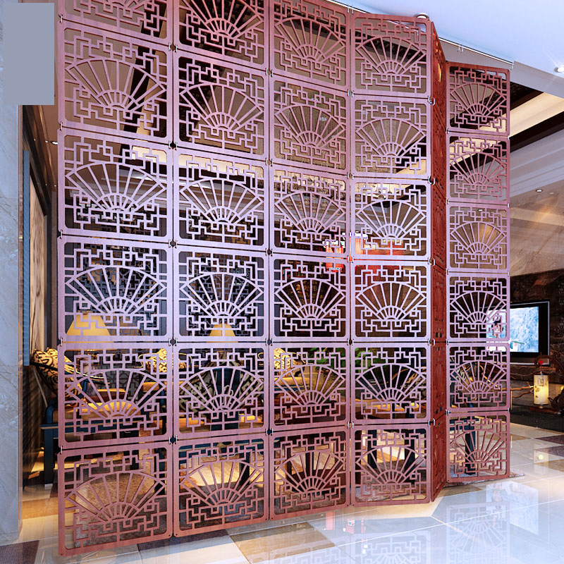foldable screen for the room decorative partition blinds shield for rooms plastic hanging wood retro hollow blinds